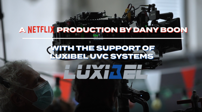 Luxibel UVC systems used in a Netflix production